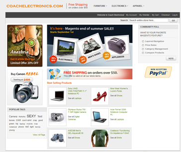 Fully Functional e-Commerce Website Store